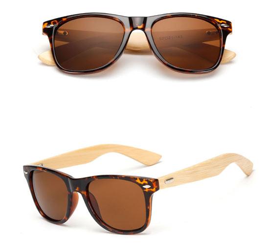 Dark Turtle Bamboo Sunglasses