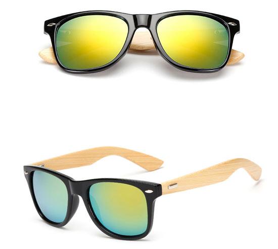 Golden Lense Bamboo UV400 Sunglasses