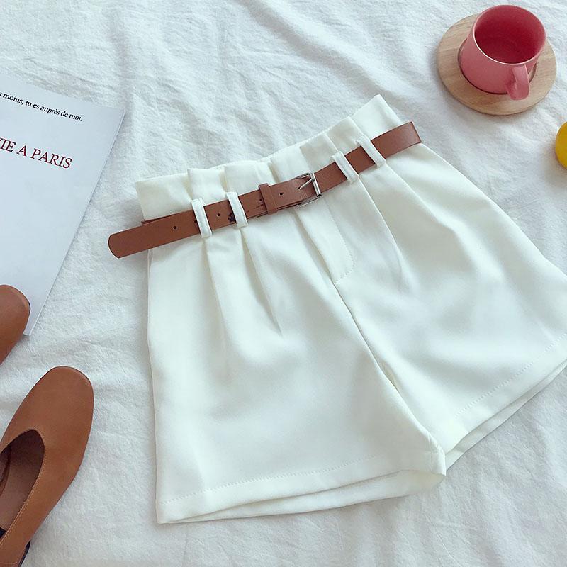 White Korean Shorts