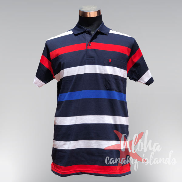Hugo Samuel Red White & Blue Band Polo