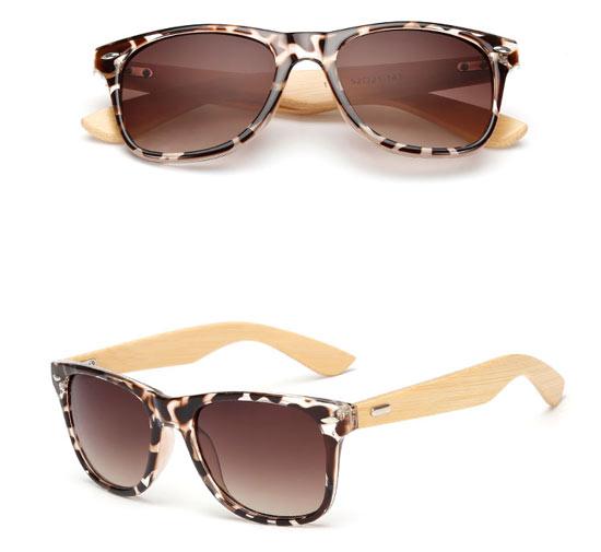 Leopard Print Wayfarer Sunglasses