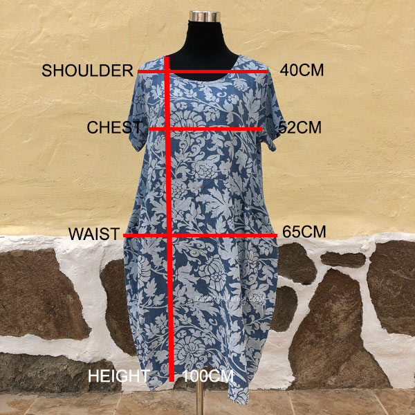 Floral Linen Tunic Size Guide