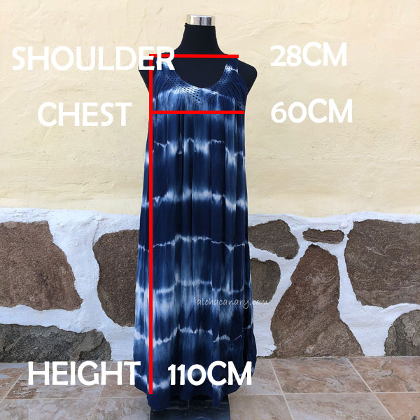 Size Guide Short Tie Dye Dress