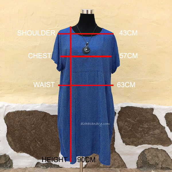 Size Guide Thin Lines Tunic Dress