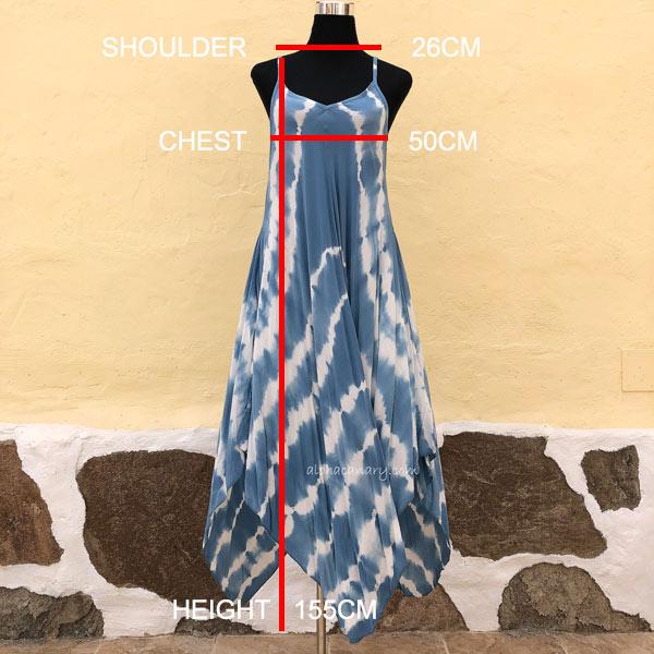 Tallaje Vestido Tie Dye Pico