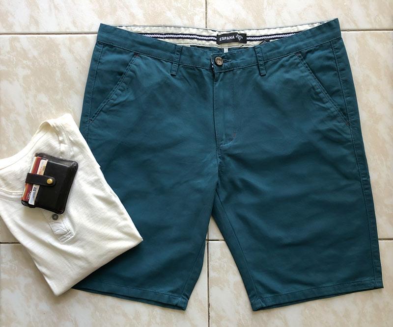 frente shorts azul pavo real